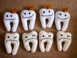 New! Tooth Holder Plush, by Mandy Jouan, http://www.flickr.com/photos/bahkubean/2956924785/